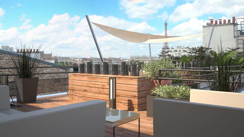 Aménagement d'un toit-terrasse à Paris photo 1