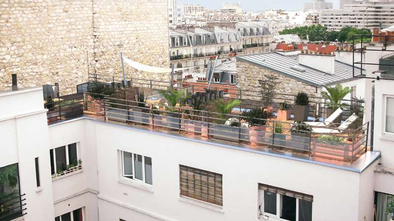Aménagement d'un toit-terrasse à Paris photo 3